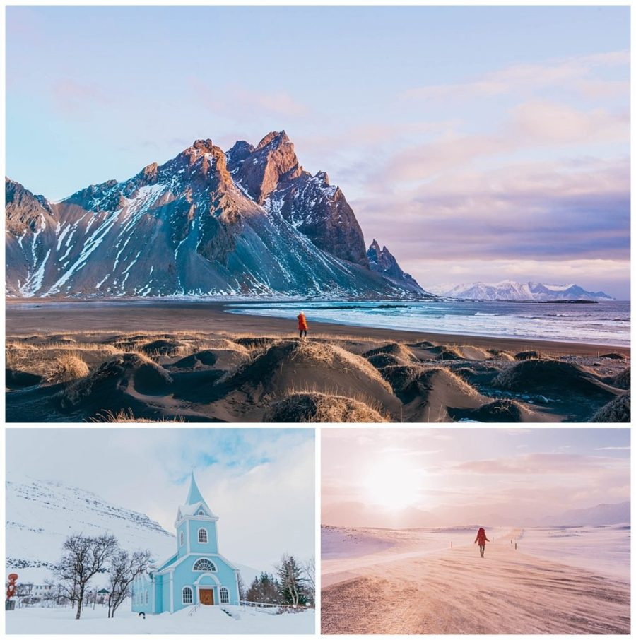 travel the ring road in Iceland; Höfn,Stokknes,Seyðisfjörður Village