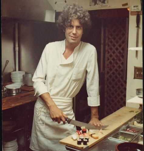 Anthony Bourdain; young chef