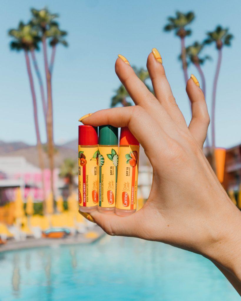 hydration tips for summer; Carmex chapstick lip balms