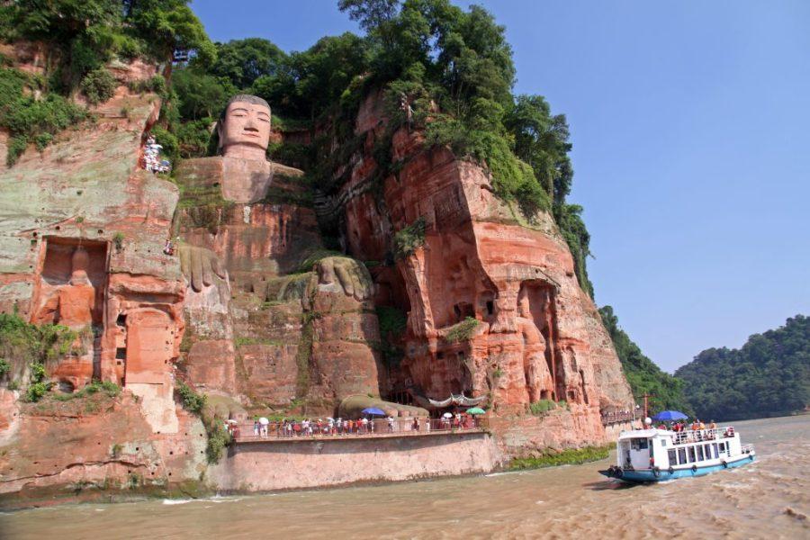 visit Chengdu China; Leshan Giant Budha