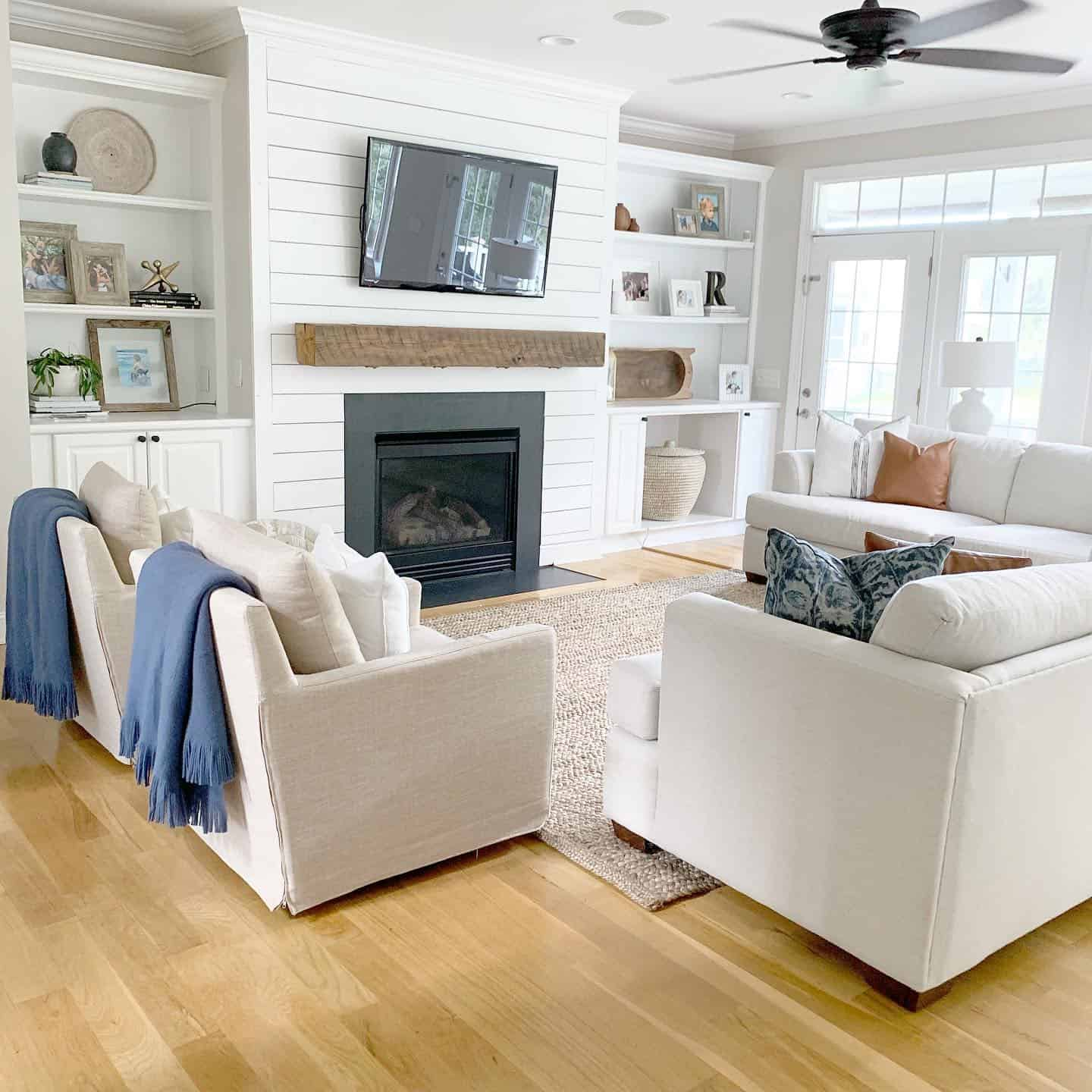 Shiplap Fireplace - The Coastal Oak