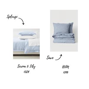 Bedding Splurge or Save
