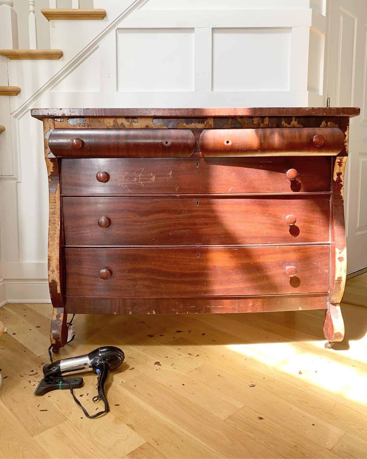 Veneer Empire Dresser Before