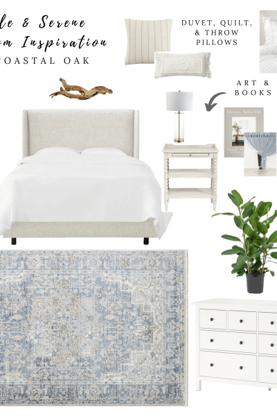 Simple and Serene Mood Board