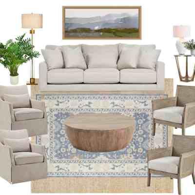 Living Room Inspiration – Splurge + Save