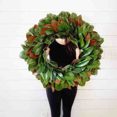 How to Make a Natural Magnolia Wreath – For Less Than $20
