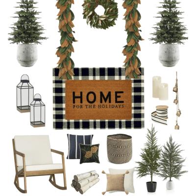 Christmas Porch Inspiration – Splurge + Save