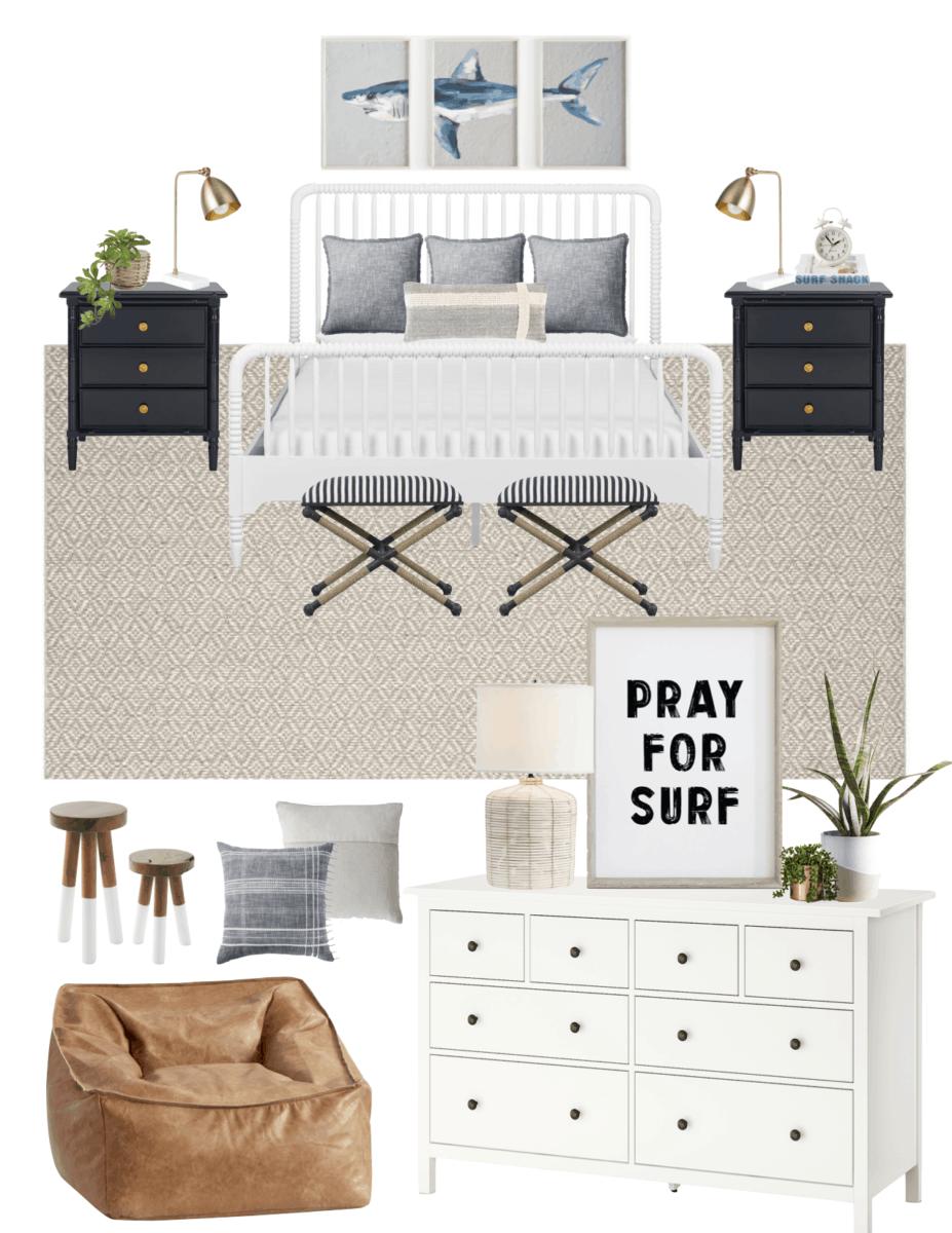 Boys' Coastal Bedroom Decor - The Coastal Oak