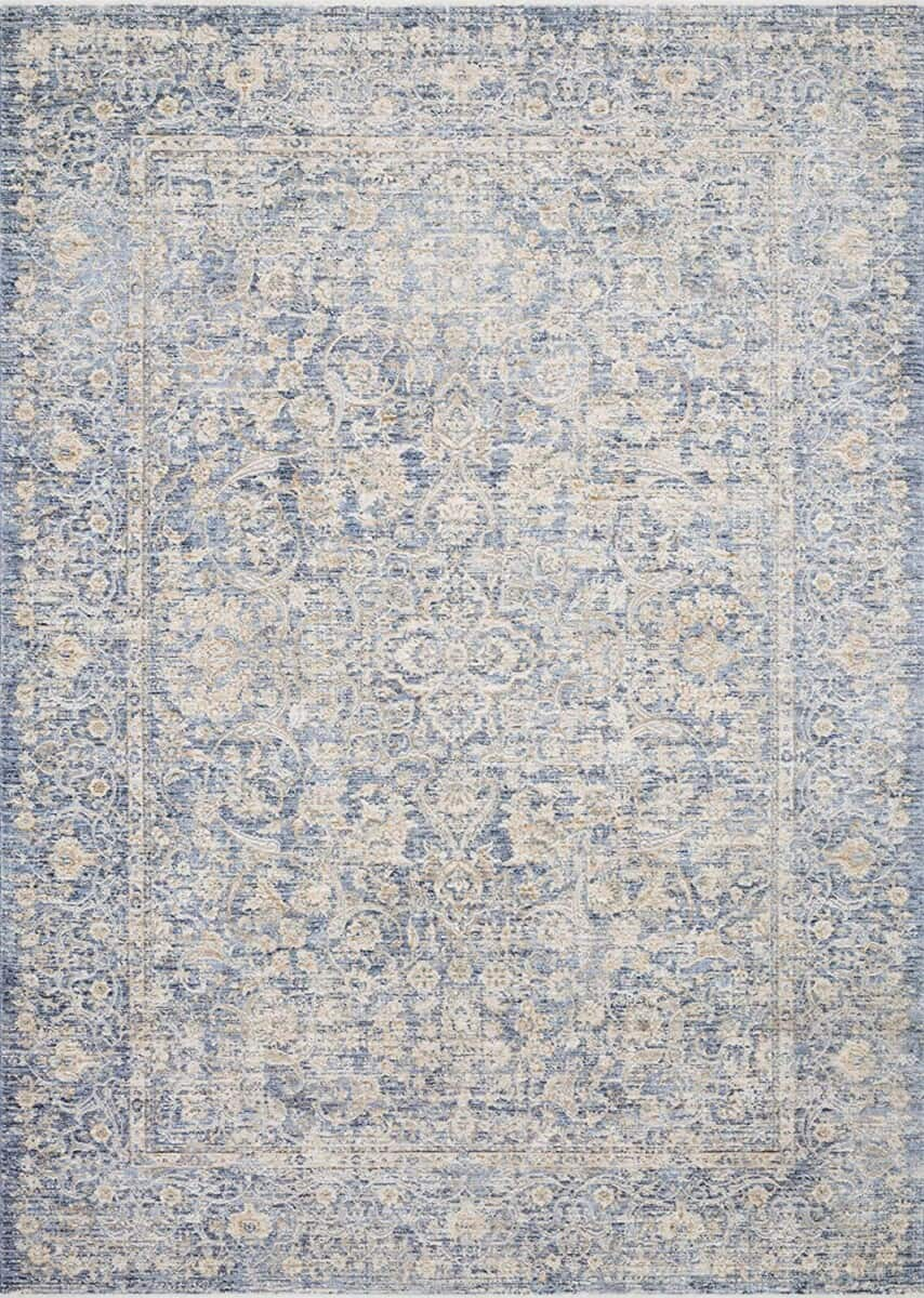 Beautiful blue rug from Amazon.