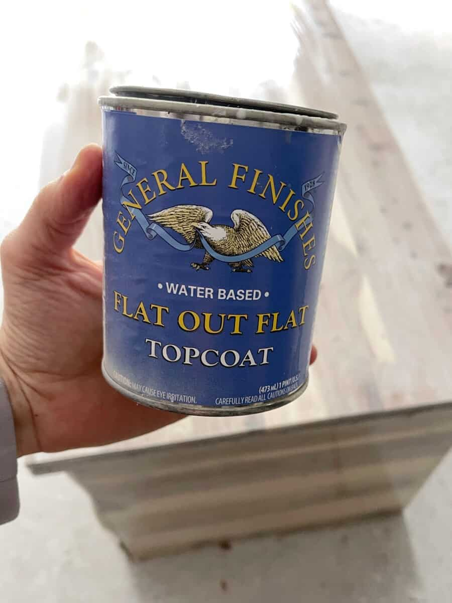 Using General Finishes Flat Out Flat as a Topcoat to seal the refinished furniture, without making it darker or appear wet.