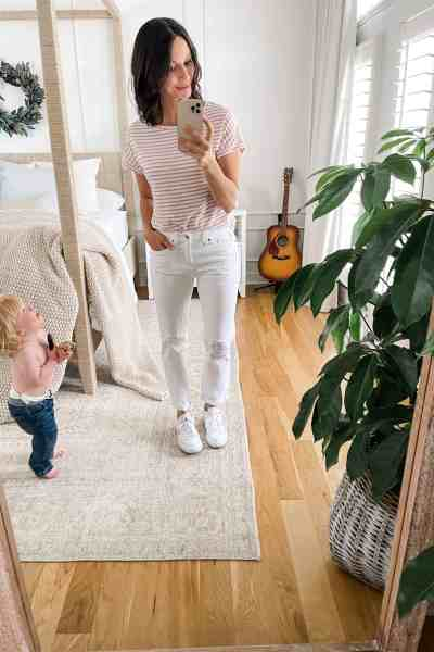 My favorite non-skinny jeans from Amazon with wide-leg and straight-leg options. #widelegjeans #amazonfashion #amazon #founditonamazon #straightlegjeans #boyfriendjeans #momfashion #momoutfits #springfashion