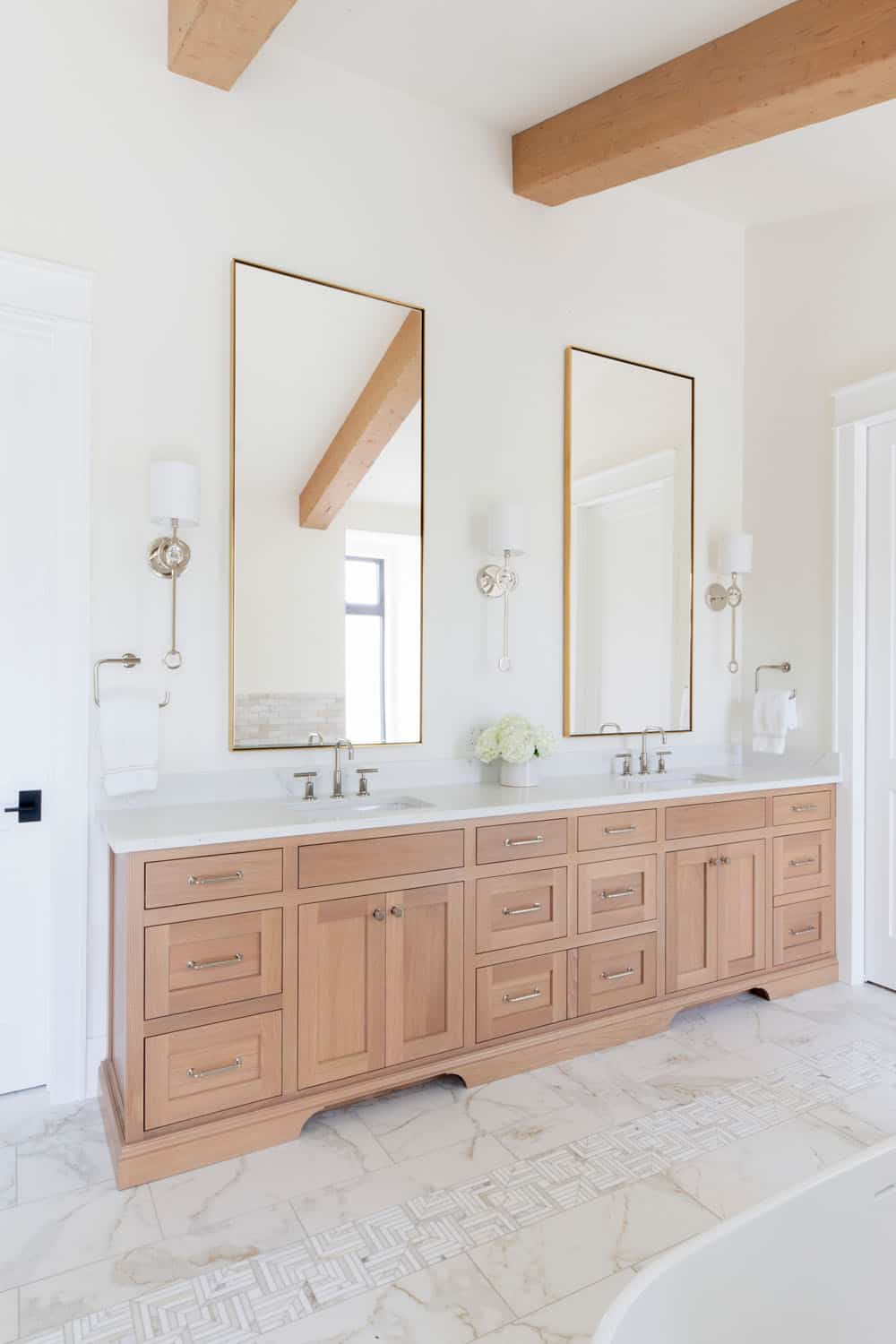 marble tile with vanity