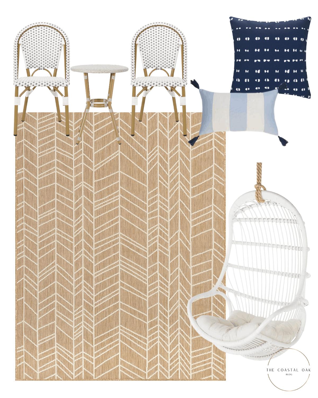 Bistro set and outdoor home decor ideas.