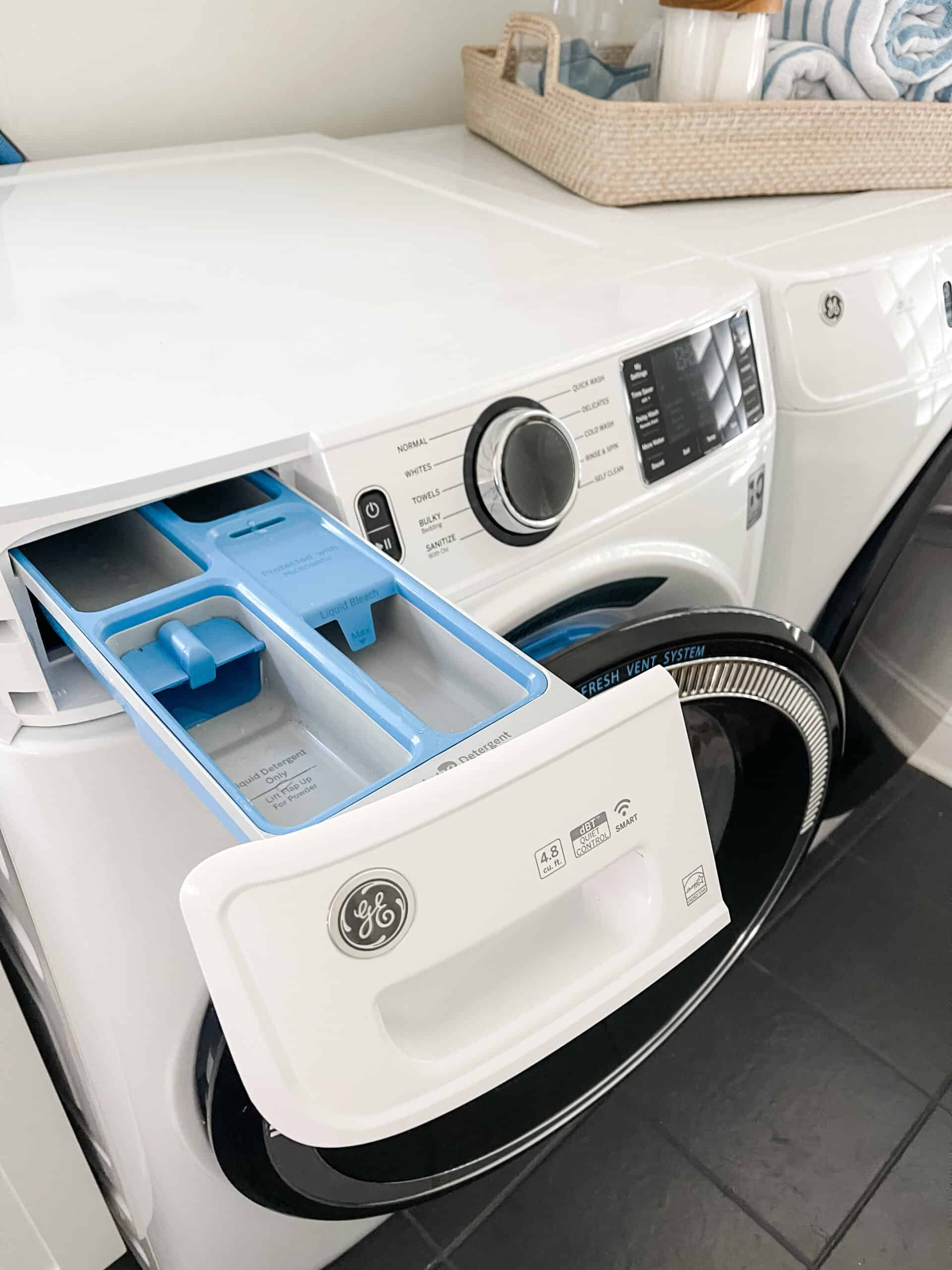 GE Ultrafresh Washer and Dryer review, leaving the door open to keep it fresh.