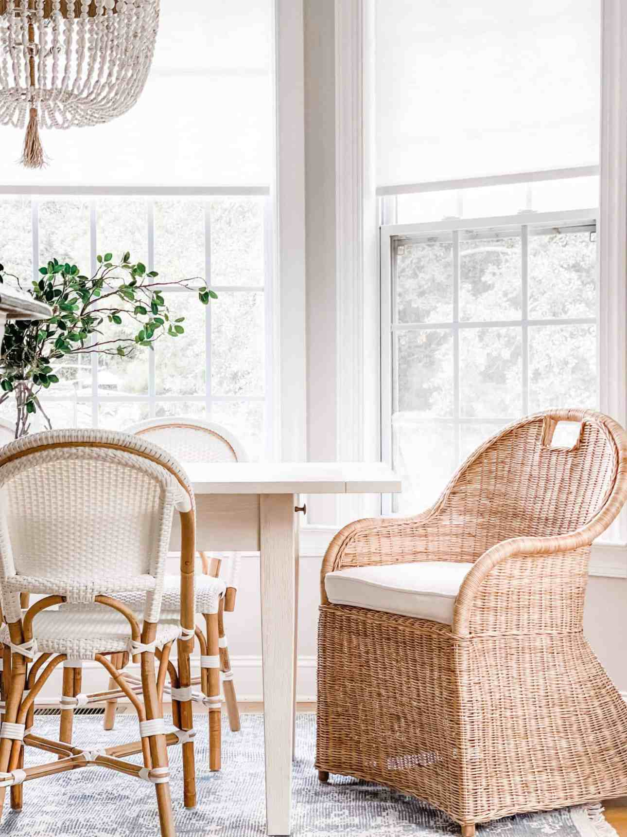 Serena & Lily Shore Dining Chairs.