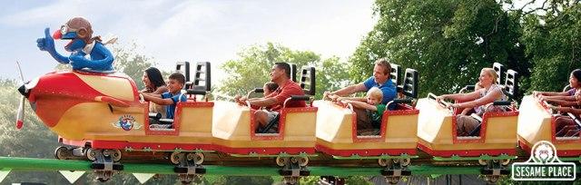 Plaza Sesamo roller coaster