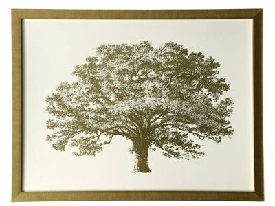 gold tree framed print