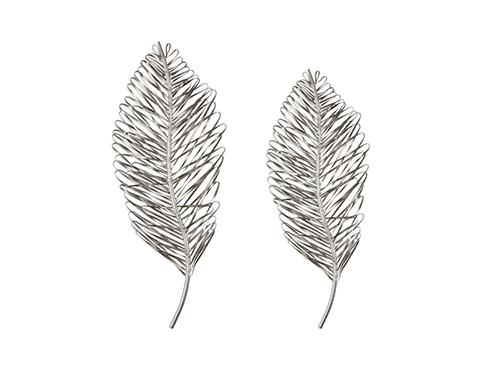 artisan metal leaves for home decor