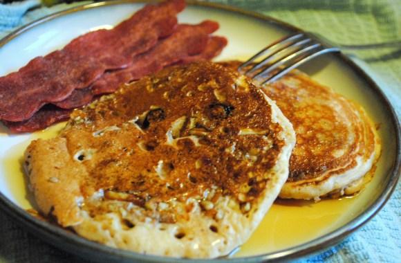 Whole Wheat Blueberry Pecan Pancakes