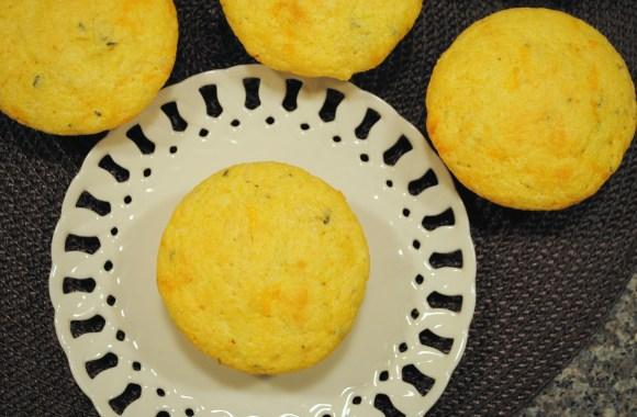 Cheddar Rosemary Corn Muffins
