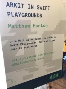 ARKit in Swift Playgrounds @ 404 - The Recap > The Code Hub