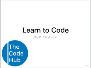 Learn to Code Slide 0