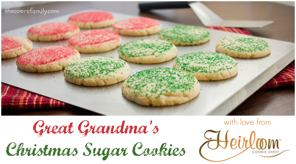 jeannies great grandmas christmas sugar cookies