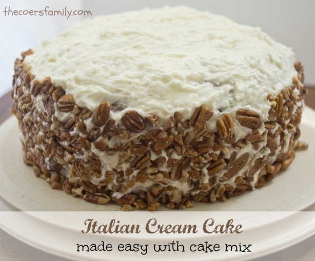 Italian Cream Cake With Cake Mix The Coers Family
