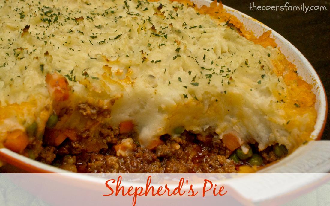 Shepherd S Pie The Coers Family