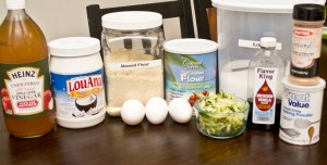 Ingredients for Trim Healthy Mama Zucchini Muffins