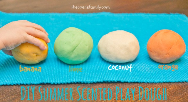 How to make scented play dough - summer scents