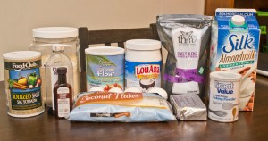 Ingredients for Trim Healthy Mama Coconut Cupcakes