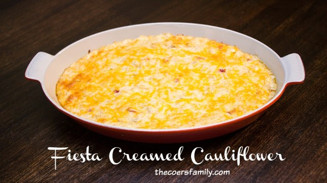 Fiesta Creamed Cauliflower from thecoersfamily.com