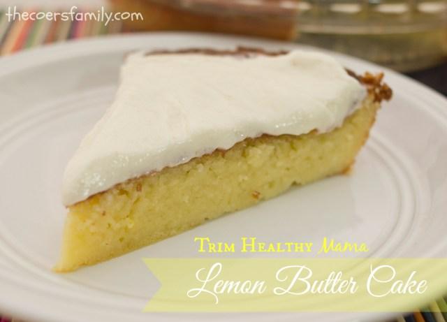Trim Healthy Mama Lemon Butter Cake