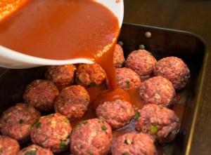 making low carb meatballs