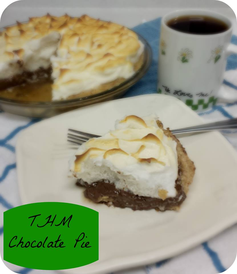 Trim Healthy Mama Chocolate Pie with Meringue - The Coers Family