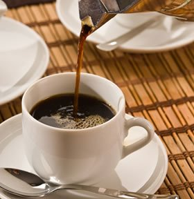 One cup of ground coffee could contain over 60% of an expecting mothers caffeine dosage according to British guidelines