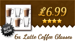6x Lattee Coffee Glasses for only £7 - bargain!