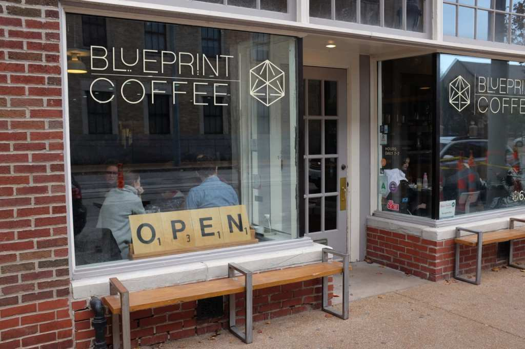 Cafe review blueprint coffee in st louis the coffee compass blueprint coffee malvernweather Gallery