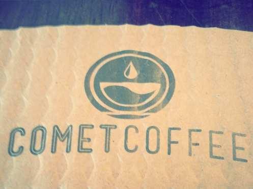 comet coffee logo clutch