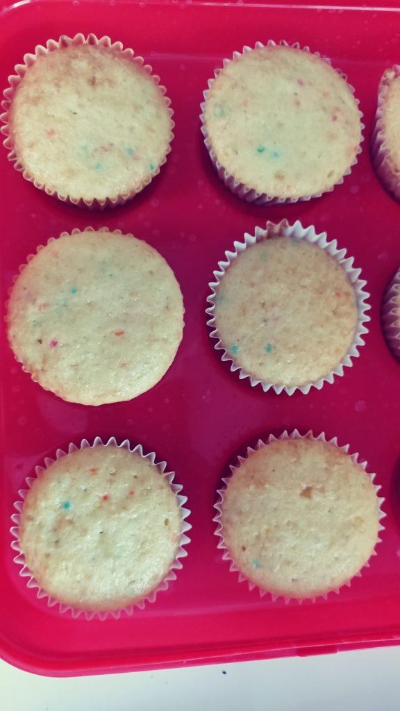 Unicorn Cupcakes: Before Icing