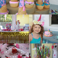 Have a magical unicorn themed birthday party