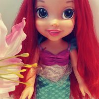 Ariel's doll hair repair.