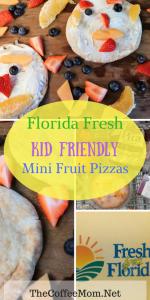Florida Fresh Kid Friendly Mini Fruit Pizza #ad #FreshFromFlorida #FollowTheFresh #IC #KidFriendlyFoods