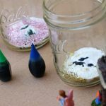 Super Easy Toddler Fairy Volcano Science Project. Screen free this summer