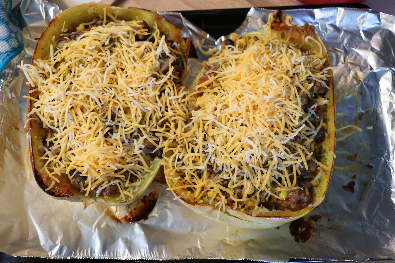 Spaghetti Squash Taco Bowls