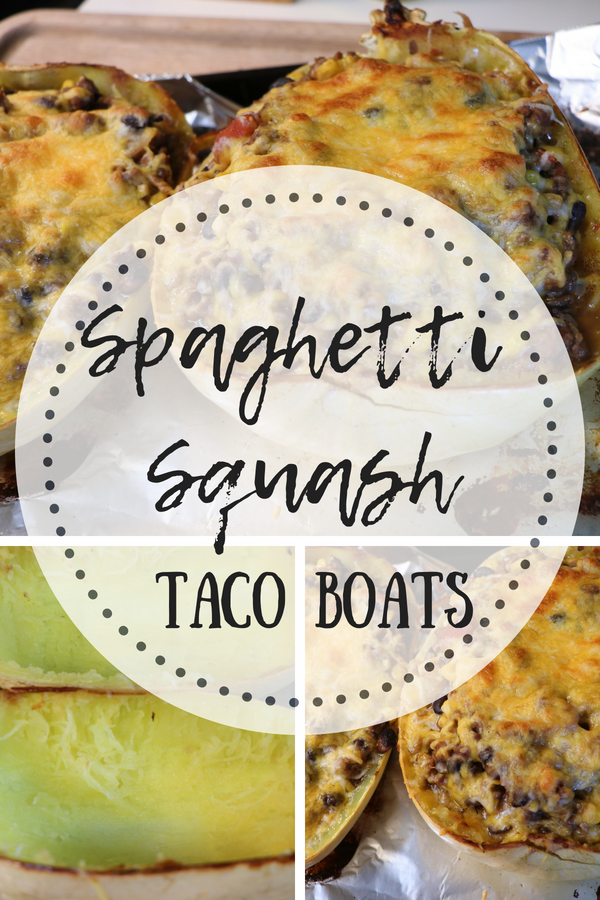 Spaghetti Squash Taco Bowls. A fun and easy low cab meal that the whole family will love! A Perfect way to change up your Taco Tuesday