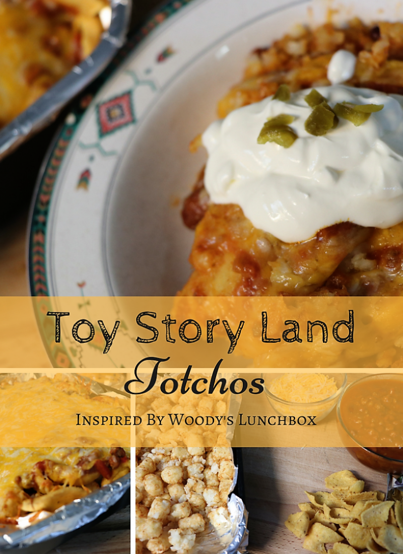 Toy Story Land Totchos. This Chili Cheese Tater Tot Casserole is so easy to make, and surprisingly delicious! Perfect for a budget weeknight dinner that adults, kids, and kids at heart will all love.