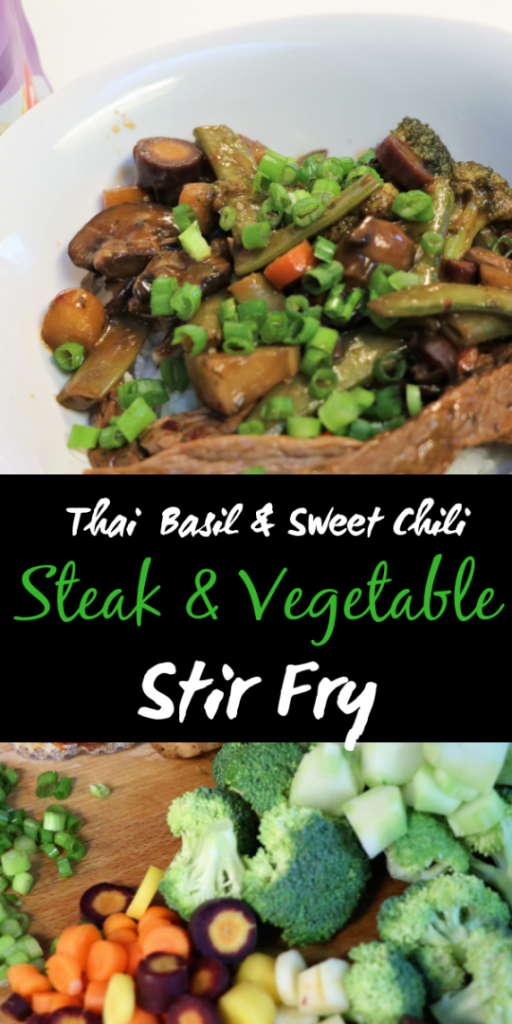 Thai Basil & Sweet Chili Steak and Vegetable Stir fry