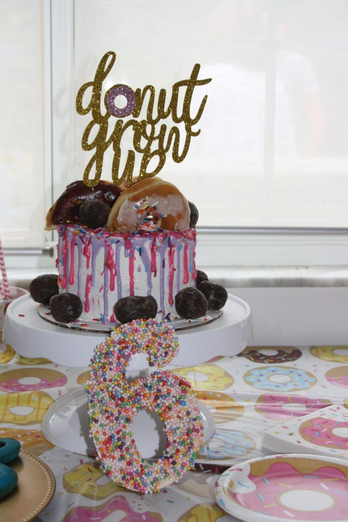 Donut Grow Up Party Cake